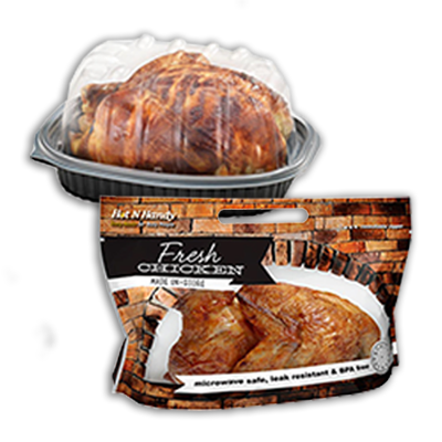 Hot N' Handy® Rotisserie Flexible Pouch