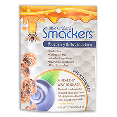 Blue Orchard Smackers packaging